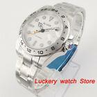 Bliger 43mm luxuyr brand Men watch Sapphire glass GMT Function Automatic watch