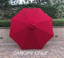 10ft Replacement Market Umbrella Canopy 8 Ribs in Red (Canopy Only)
