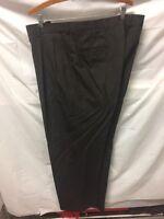 Hart Schaffner & Marx Pure Vigin Wool Brown Dress Pants Mens Sz 38x30 Vintage