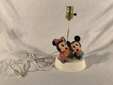 Vintage DISNEY Mickey Minnie Mouse Baby Lamp and Night Light Bed Stand Light