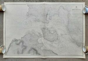 HOY SOUND ORKNEY ISLANDS 1932 dated Admiraly Map Original Military Nautical