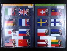 Hetalia Axis Powers Mini National Flag set of 2 official Animate New