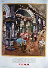 1967 GUINNESS Beer Advert 'MARBLE Bar, Sydney' - John Ward Print AD (G.E.4368)
