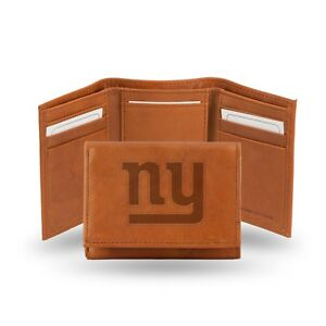 New York Giants NFL Embossed Leather Trifold Wallet ~ New