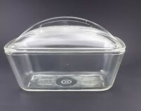 Vintage Pyrex Westinghouse Loaf Pan Refrigerator Dish Clear Glass With Lid