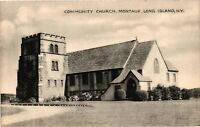 Vintage Postcard - 1900s Community Church Montauk Long Island New York NY #4218