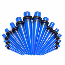 Blue Acrylic Taper Stretchering Kit 12g To 00g Pack Of 14