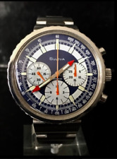 "Vintage Bulova Chronograph C ""Stars & Stripes"" Valjoux 7736 Men's Watch *No Resv"