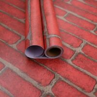 Red Brick Wallpaper Stick and Peel Self-adhesive Contact Paper Waterproof Stick