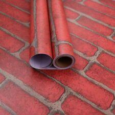 Red Brick Wallpaper auto-adhesivo cáscara de palo y papel de contacto palo Impermeable