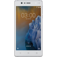 New Nokia 3 TA-1020 4G Smartphone UNLOCKED Silver / Cheap Phone White AU Stock