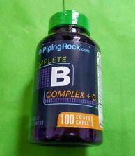 B Complex Plus Vitaminas Grupo B Completo Vitamina C 100 comprimido Piping Rock
