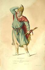 Mitridate Arcas Costume Teatro Jean Radice incisione 19esimo