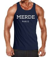 Läßiges Merde Paris Herren Tank-Top Shirt Moonworks®