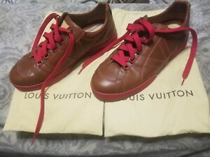 Louis Vuitton LV Mens Shoes size LV 11 US 12 leather red bottom 100% authentic
