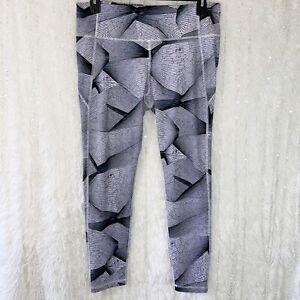 Under Armour Compression Leggings Yoga Pants Pocket Black Purple Women's XLARGE