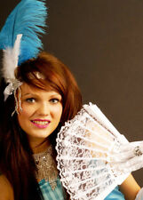 Victorian Ladies White Lace Fan