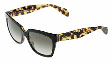 NEW Authentic PRADA Black Blonde Havana Sunglasses SPR 07P PR 07PS NAI 0A7 O7P S