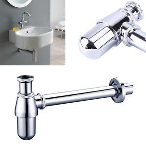 Modern Basin Sink Bottle Trap Waste Chrome Bathroom Pipe Silver Adjustable UK