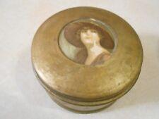 Vintage Antique Powder Puff Metal Victorian Music Box