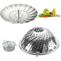 Kitchen Cookware Folding Dish Steam Stainless Steel Food Basket Mesh Cooker Tool