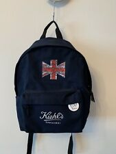 Limited Kiehls Backpack With UK Flag, Use Only Twice, Navy Colour,