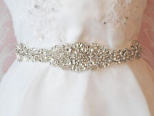 Crystal wedding bride bridals sash belt beaded sash crystal skinny sash belt