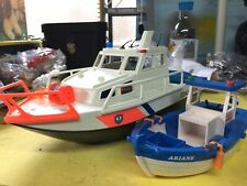 Playmobil Coastguard Boat 4448 and Playmobil 5131 Fishing/trawler boat