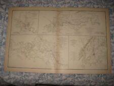 ANTIQUE JACKSON MISSISSIPPI WINCHESTER FREDERICKSBURG VIRGINIA CIVIL WAR MAP NR