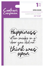 Crafter's Companion - Clear Unmounted Stamp - Happiness OPEN DOOR