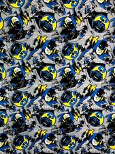 "Dc Comics Batman Grey Small Print Fabric - L38"" x W82"" inches"