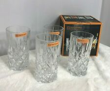 Nachtmann Long Drink Tumblers Noblesse Fine Bavarian Crystal Set Of 4