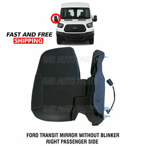 Ford Transit Heated Manual Mirror Short Arm Without Blinker Right Side 2015-2019