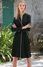 Bnwt🌹Next🌹Size 12 Black Tailoring Embroidered Bomber Jacket Dress Evening New