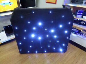 Equinox Aluminium Lightweight DJ Booth System MKII With LED Star Cloth (121460)