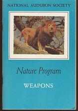 Booklet National Audubon Society Nature Program Weapons