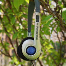 Panasonic classical  Headband blue dot headphones HIFI nostalgic granny chic