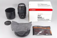 【Mint】 Canon EF 100mm f/2.8 Macro USM AF Lens w/Box From Japan free shipping