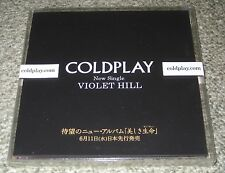 COLDPLAY Japan PROMO ONLY CD / DVD set VIOLET HILL still NEW/UNOPENED 3 disc set