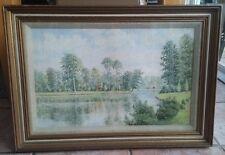 ' Claremont Lake ' Pastel Painting By Leslie Shelton - Framed And Glazed
