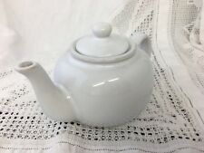 White Ceramic Teapot Traditional Design ~ Unused Single Sized Teapot