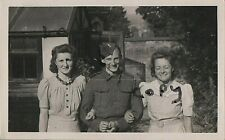 WW2 soldier Worcestershire Home Guard relaxing in garden