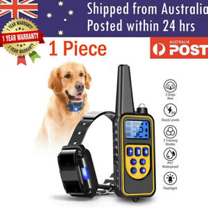 Electric Pet Dog Training E-Collar Anti Bark Obedience Remote Control Collar AU
