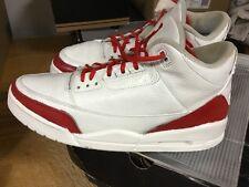 Nike Air Jordan 3 III White RedCustoms Sz 12 From 2001 Free Ship W OG BOX I 1 4