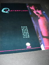 Quarterflash Back Into Blue puts them back into view 1985 Promo Poster Ad mint
