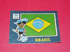 PANINI FOOTBALL 1978 ECUSSON JEAN DENIM BRESIL BRASIL ARGENTINA 78 WC WM MUNDIAL