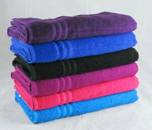 Cheap Bath Sheets Magenta Size 80 x 150cm Budget Quality 380 GSM Set Pack of 3