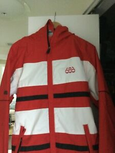 686 Mannual Source InfiDRY 8K Waterproof Snowboard Jacket Red/White Mens Small