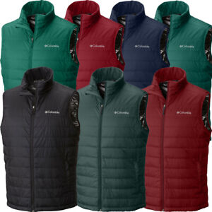 "$90 New Mens Columbia ""Crested Butte II"" Insulated Omni-Heat Omni-Shield Vest"