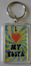Novelty Gift, Keyring, I Love My Vespa, Retro Keyring, Vespa Lovers